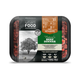 NATURE'S FOOD DOG BEEF DINNER, BULK [1KG]