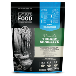 NATURE'S FOOD DOG TURKEY SENSITIVE, PATTIES [1KG]