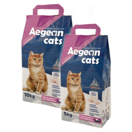 AEGEAN CATS PREMIUM CLUMPING LITTER BABY POWDER [5 KG]