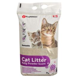 FLAMINGO CAT LITTER BABY POWDER [7 KG]