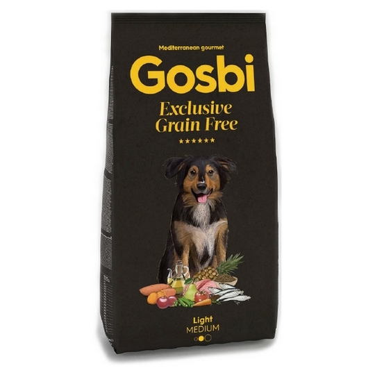 GOSBI DOG EXCLUSIVE GRAIN FREE LIGHT MEDIUM [12KG]